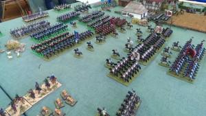The cavalry battle in full swing