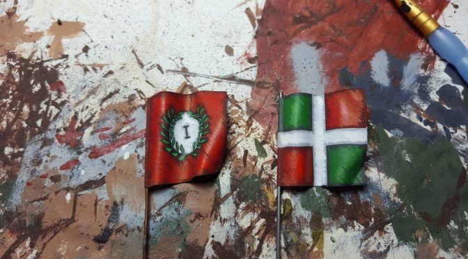 How I paint my flags…